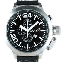 【送料無料】 MAX XL WATCHES(マックスエックスエルウォッチ) レザーベルト腕時計 55ミリ 5-MAX361 ブラックフェイス