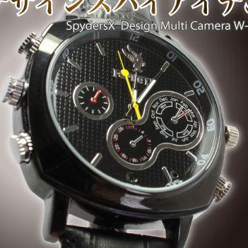【送料無料】【小型カメラ】フルハイビジョン腕時計型スパイカメラ(スパイダーズX-W735)16GB内臓/1200万画素