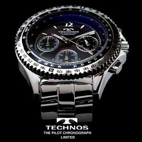 【送料無料】 TECHNOS テクノス パイロット・クロノグラフ 限定モデル メンズ 腕時計 T4162SB