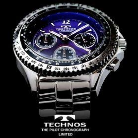 【送料無料】 TECHNOS テクノス パイロット・クロノグラフ 限定モデル メンズ 腕時計 T4162SN