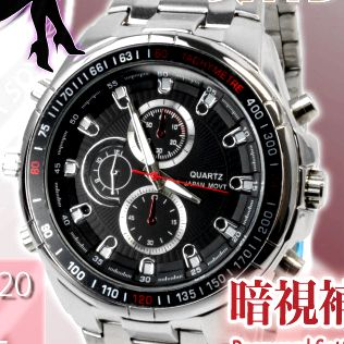 【送料無料】【小型カメラ】暗視補正機能付腕時計型スパイカメラ スパイダーズX-Basic Bb-620 O-110 8GB内蔵/フルハイビジョン