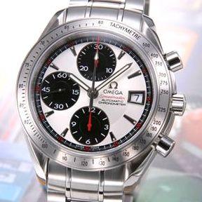 【送料無料】 OMEGA(オメガ) 腕時計 スピードマスターデイト シルバー/ホワイト&ブラックスモセコ 3211-31