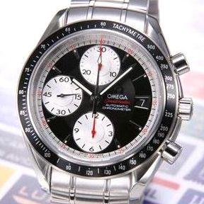 【送料無料】 OMEGA(オメガ) 腕時計 スピードマスターデイト ブラック/シルバースモセコ 3210-51