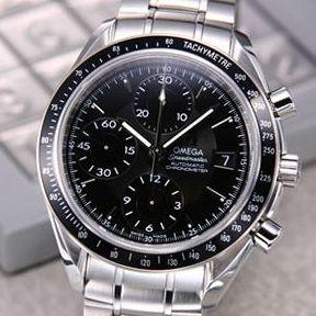【送料無料】 OMEGA(オメガ) 腕時計 スピードマスター デイト ブラック 3210-50