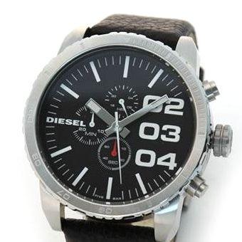 DIESEL(ディーゼル) メンズ腕時計 モテ系ブラック・フェイス クロノグラフ・ウオッチ【ブラック系】 DZ4208