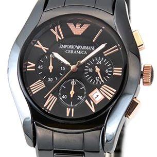 【送料無料】 EMPORIO ARMANI(エンポリオアルマーニ) メンズ 腕時計 CERAMICA(セラミカ・クロノグラフ) ブラックカラーのセラミックブレス・クロノグラフ・ウオッチ AR1410