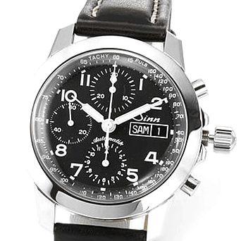 ジン メンズ 腕時計 クロノグラフ レザー オートマチック 103.B.AUTO.POL.TY